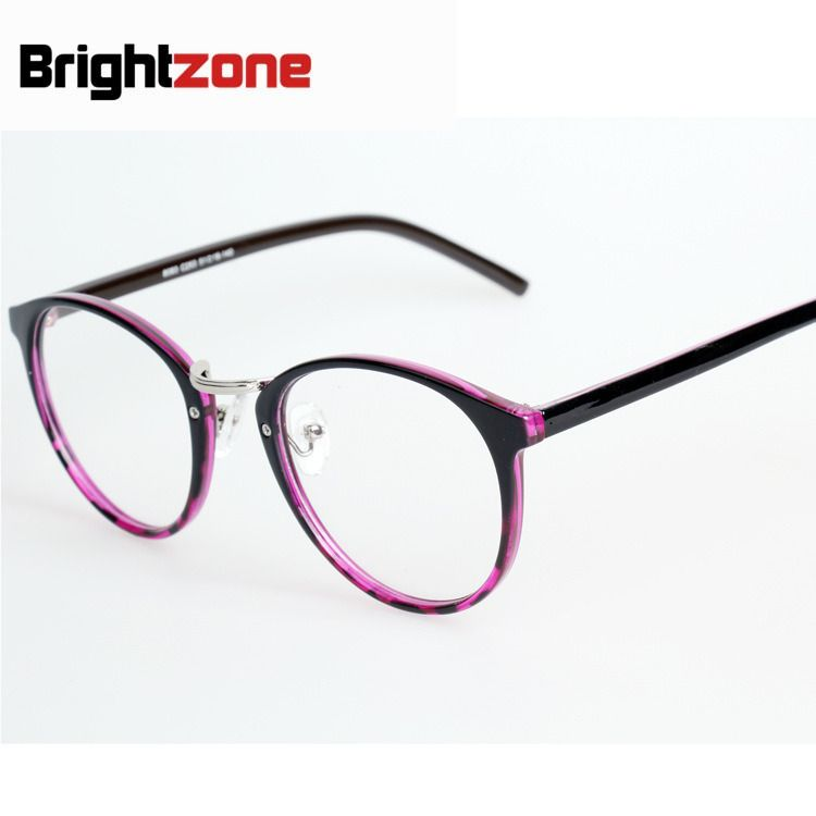 In Stock New Pattern Circle Frame Glasses Difference Yet Restore Ancient Ways Plain Glass Mirror Men And Women Fashion