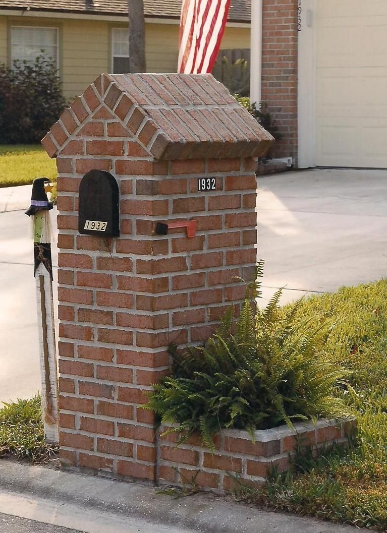 Brick mailbox outdoor projects pinterest brick for Best mailbox design