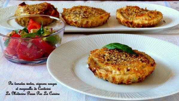 Pie tomates oignons rouges de Philippe Conticini