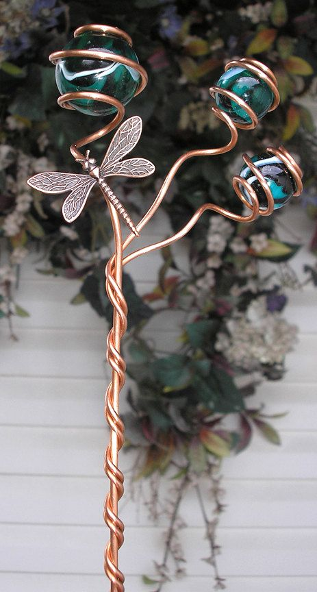 Dragonfly Garden Plant Stake Metal Sculpture By Dragonflydreams1 24 99