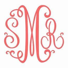 Download Free Monogram SVG Files for Cricut | Cricut monogram ...