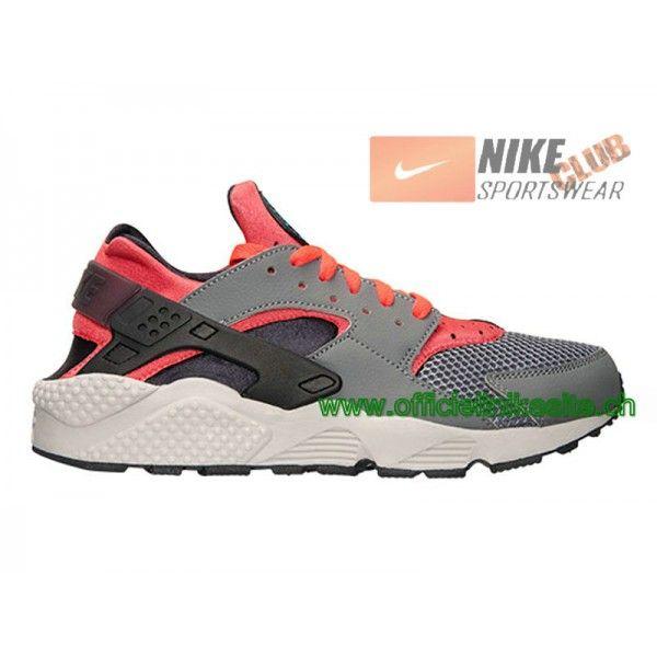 sports shoes 7e989 24fe1 Nike Air Huarache Run Chaussure Nike Sportswear Pas Cher Pour Homme Gris  Noir Rouge