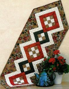 Patchwork table runner sewing pattern table toppers pinterest patchwork table runner sewing pattern watchthetrailerfo