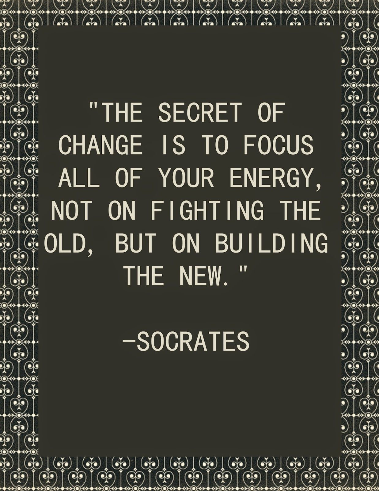 Energy and Work Quote - March 2015