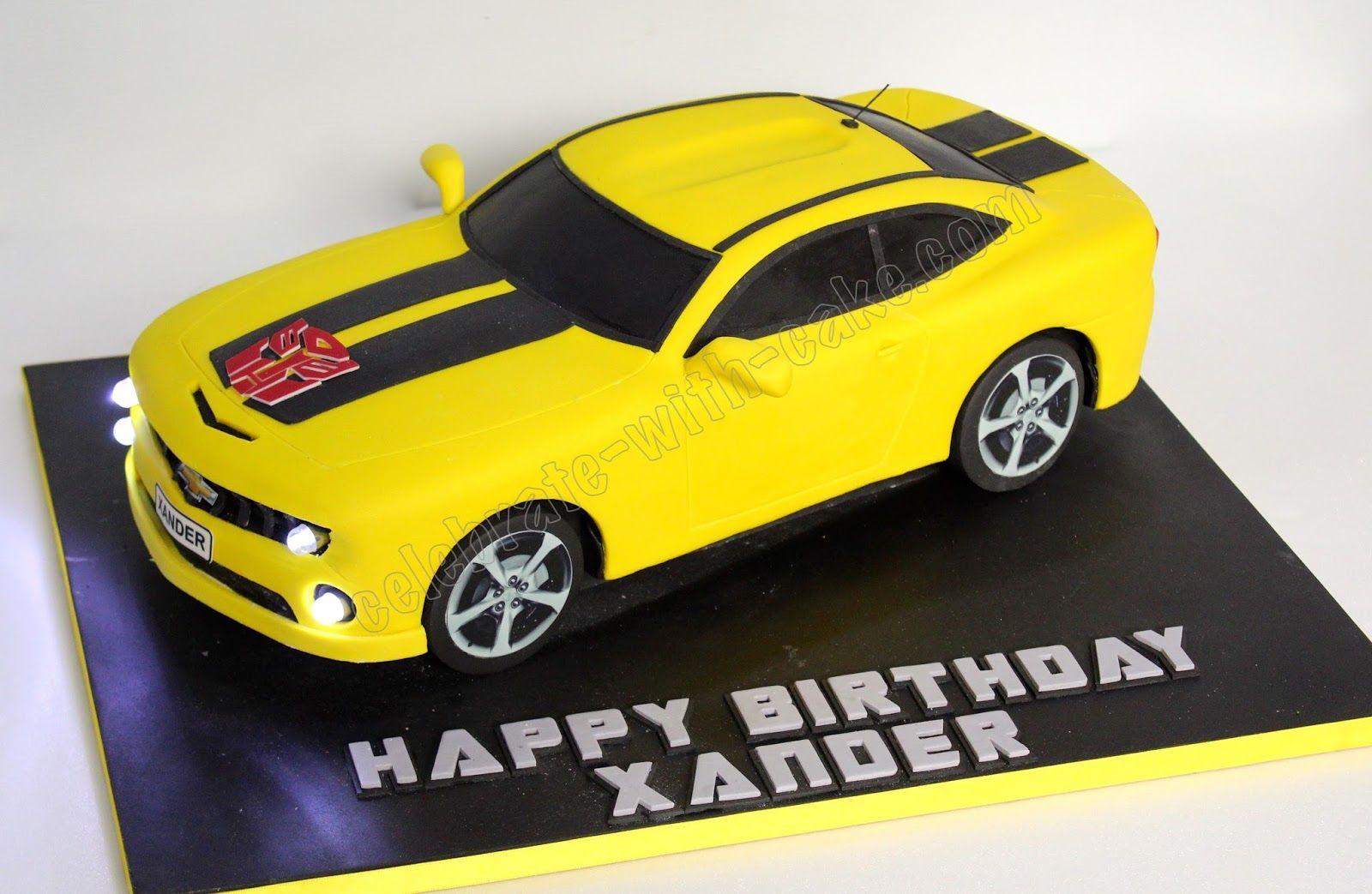 Bumble bee camaro cake 6th birthday cakes birthday cake