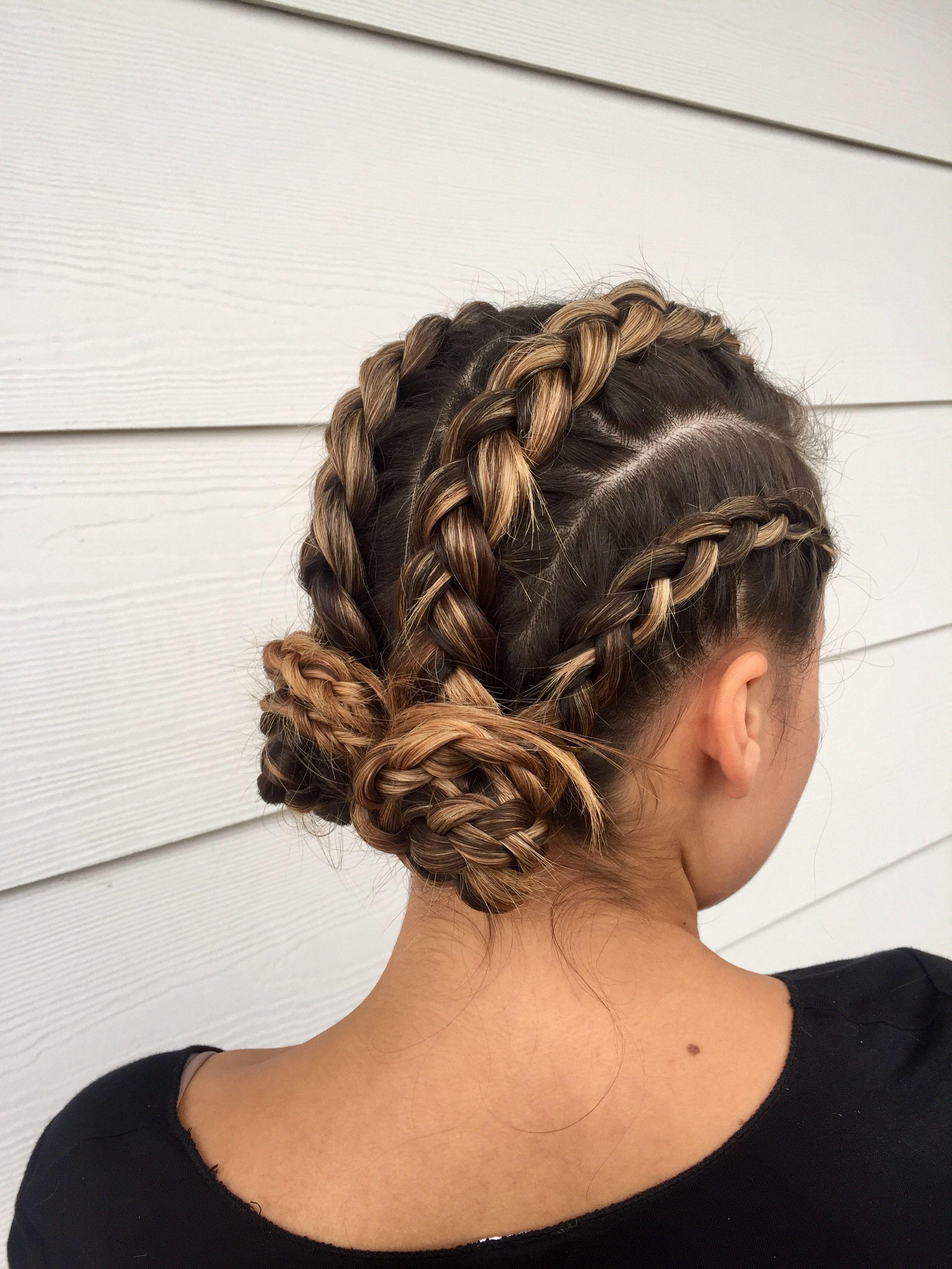 braids #cornrows #hairartistry #hairstyle #buns  Braided