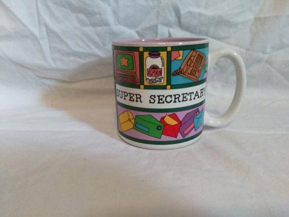 Super Secretary Mug - Secretary Coffee Cup, Administrative - legal assistant job description