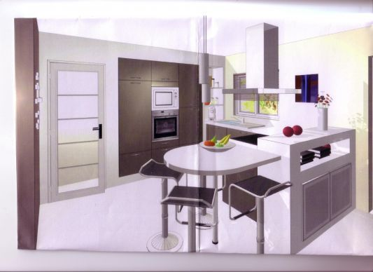 votre avis sur implantation cuisine 12m2 11 messages kitchen cuisine. Black Bedroom Furniture Sets. Home Design Ideas
