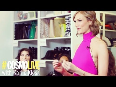 Karlie Kloss: | Video: How to Walk Like a Runway Model, for Cosmopolitan. Victoria's Secret model Karlie Kloss teaches a Cosmopolitan editor, Anna Breslaw, how to strut down the cat walk like a professional.