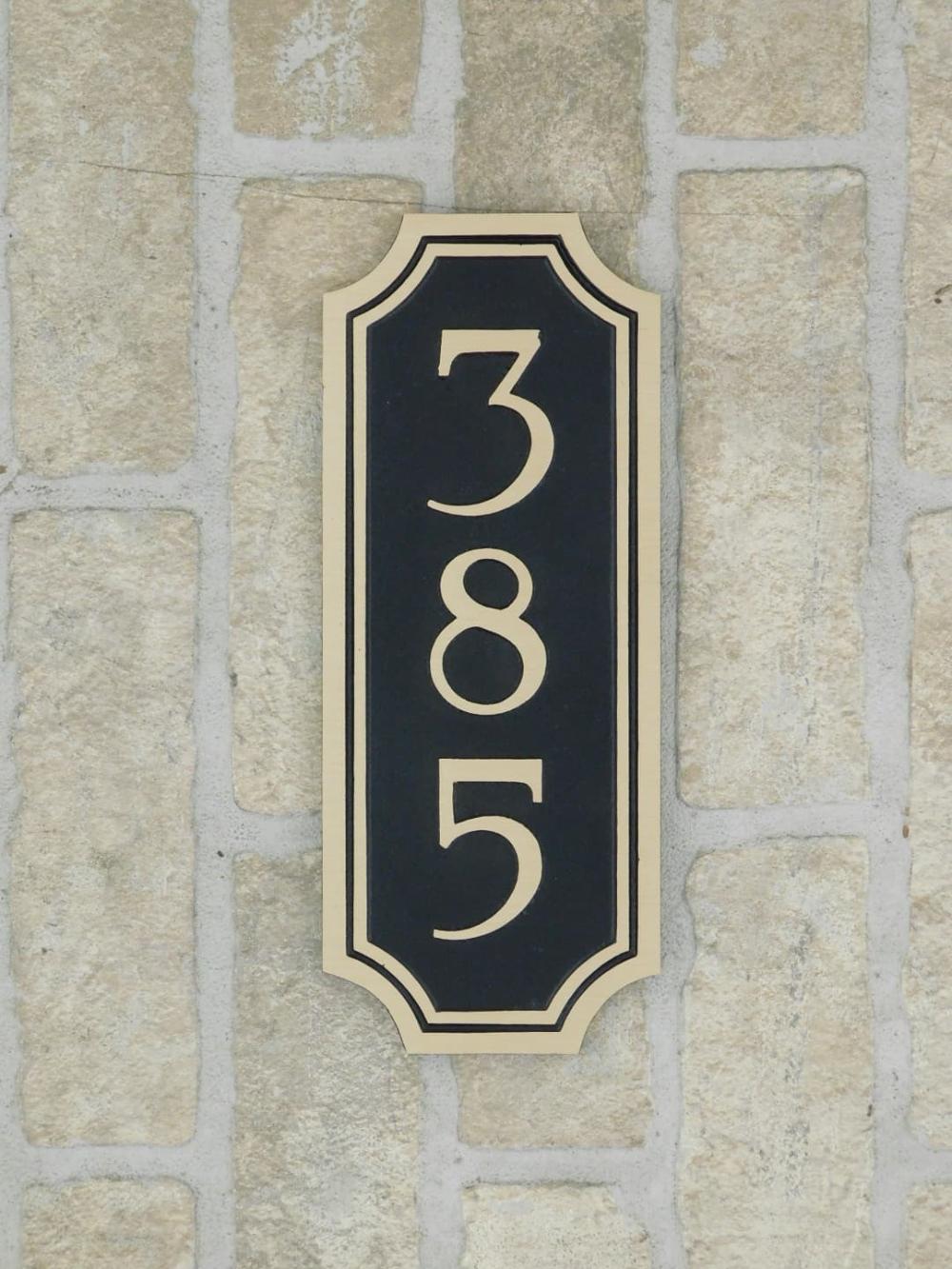 Bronze Address Plaque 4x10 Address Plaque Custom Address Plaque
