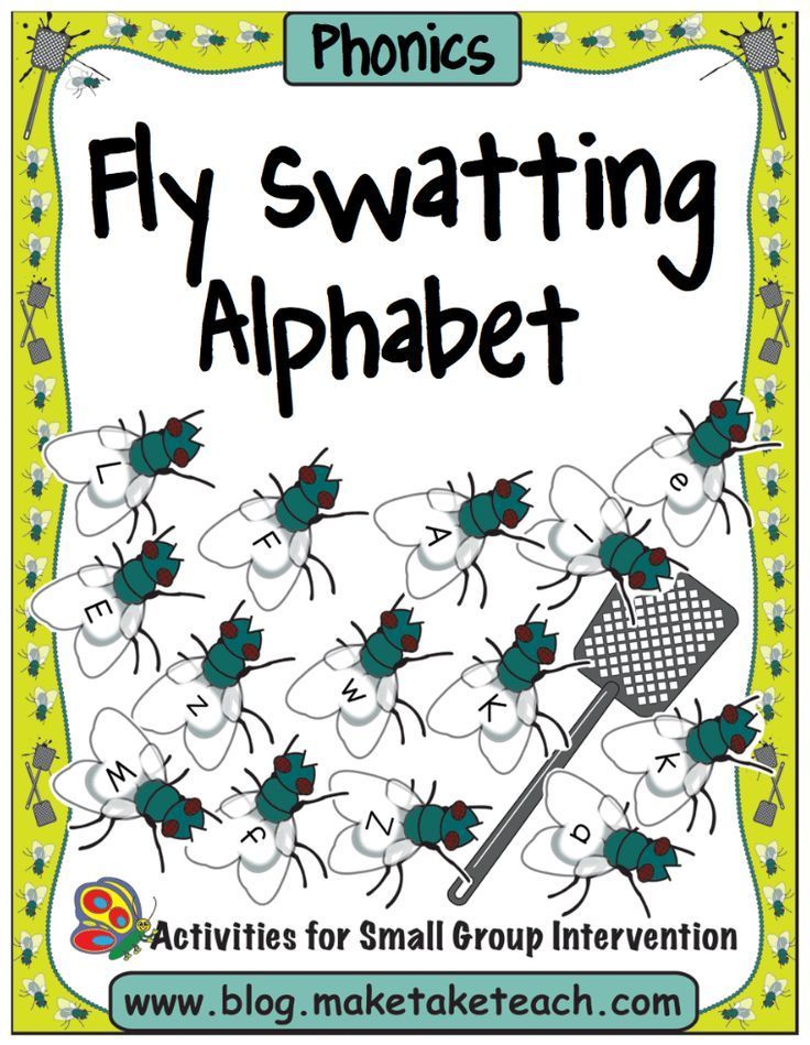 Fly Swatting activity for learning letters and sounds! | Pre-K - K ...