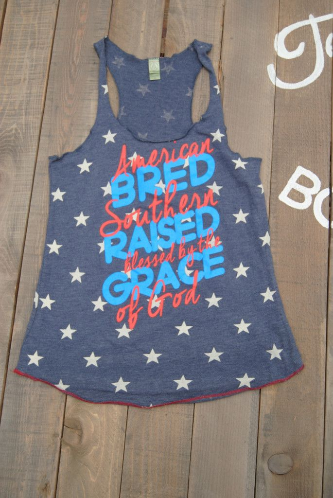 American Bred Southern Raised Star Tank Top