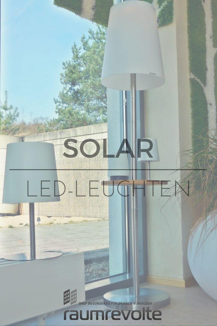 Gacoli Solar Led Stehleuchte Roots No 4 Mit Ablage Warmweiss