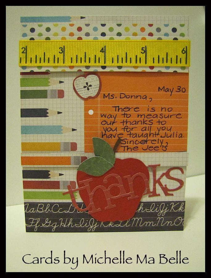 Teacher Thank You Card (handmade scrapbook tools)