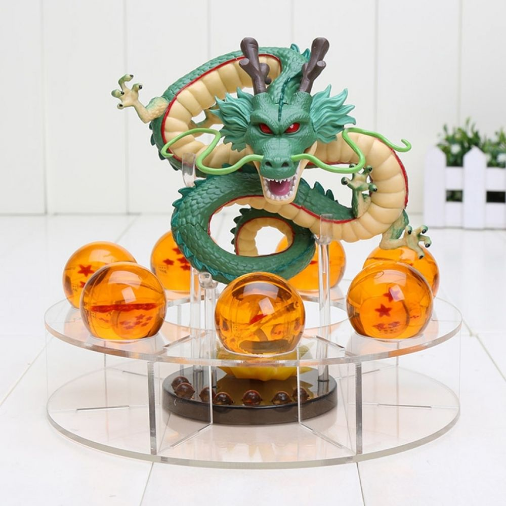 Dragon Ball Z Action Figure Shenron With Crystal Dragonballs Anime Toy Model