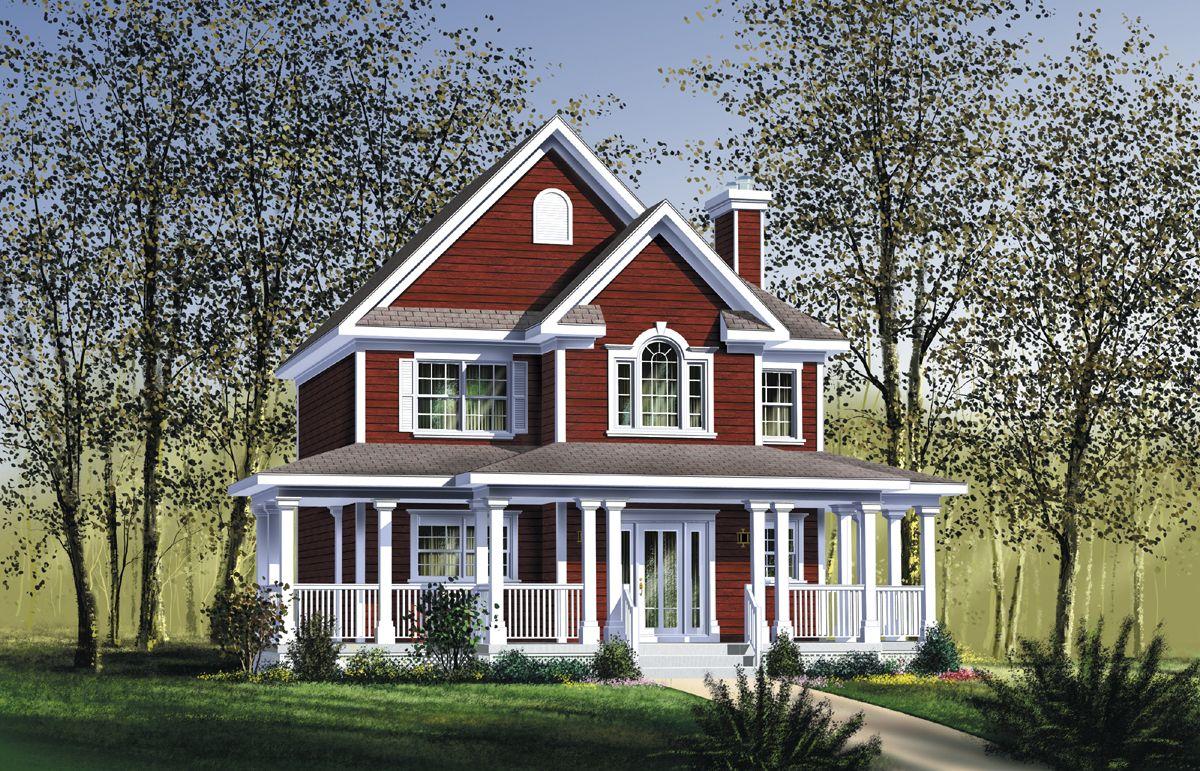 Plan 80415pm Delightful Wrap Around Porch In 2020 House Plans Country Style House Plans Country House Plans