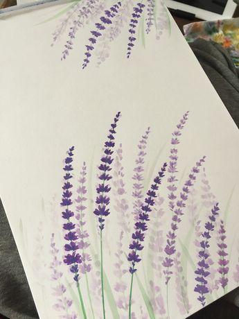 Lavender watercolor #ninabutterfliesillustrations
