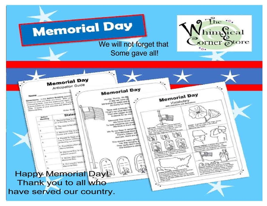 It Is So Important To Inform Students That Memorial Day Is