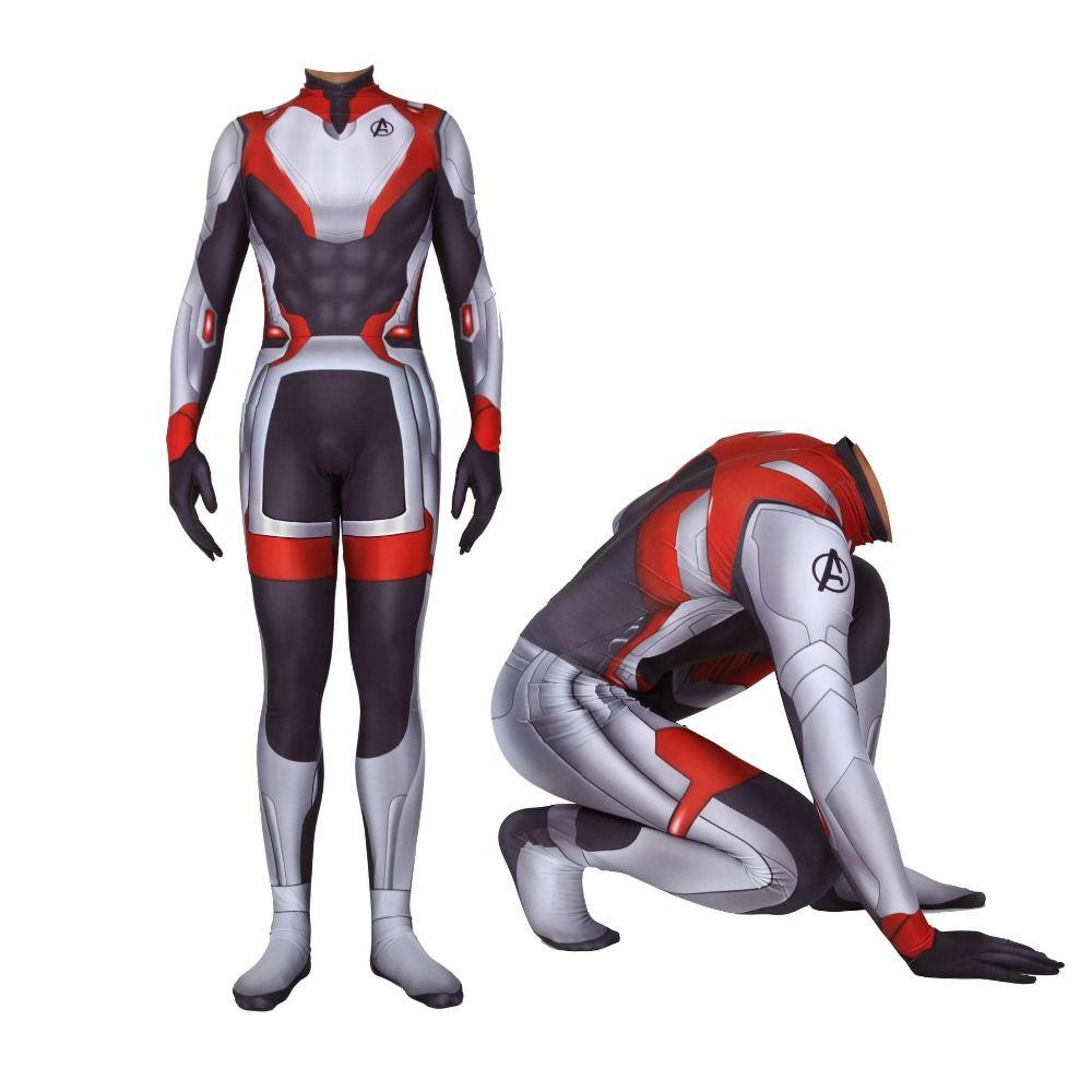 Avengers Endgame Quantum Realm Cosplay Costume Zentai Lycra Jumpsuit Kids Adult