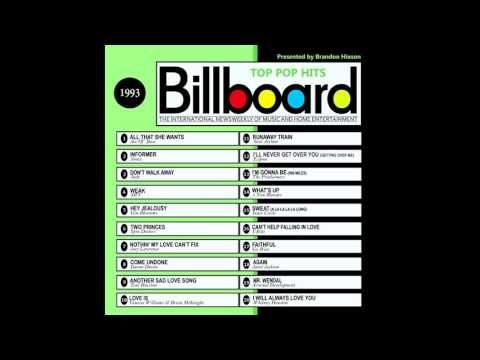 Billboard Top Pop Hits - 1993 - YouTube | Musical singers, Cantantes