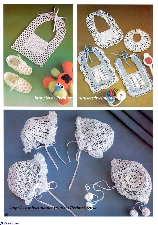 Newborn crochet collection with diagrams