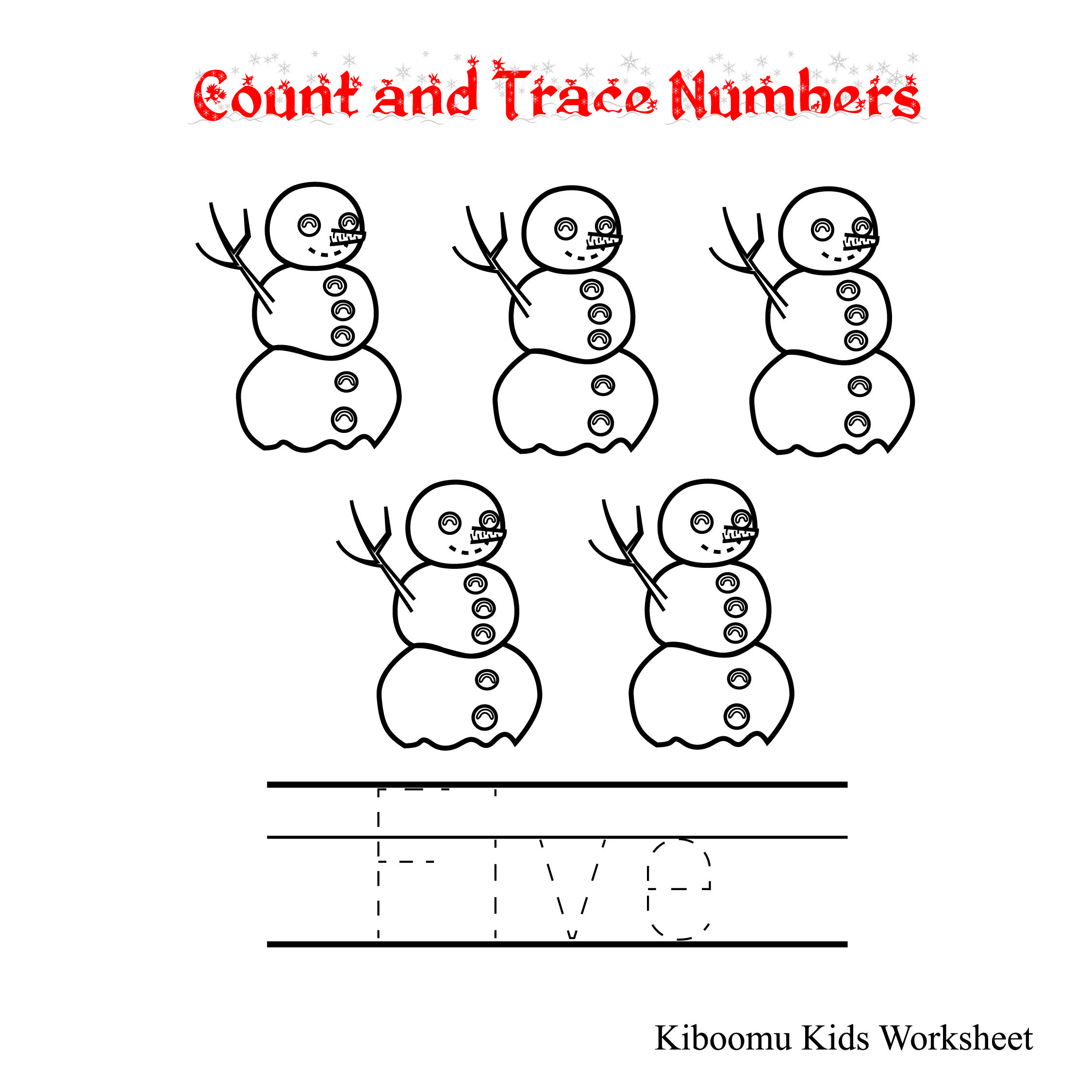 Count And Trace Number Five Worksheet And Counting Song