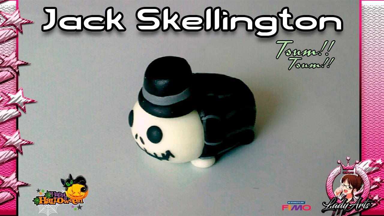 HALLOWEEN | Tsum Tsum | Jack Skellington | Polymer Clay Tutorial | 2016