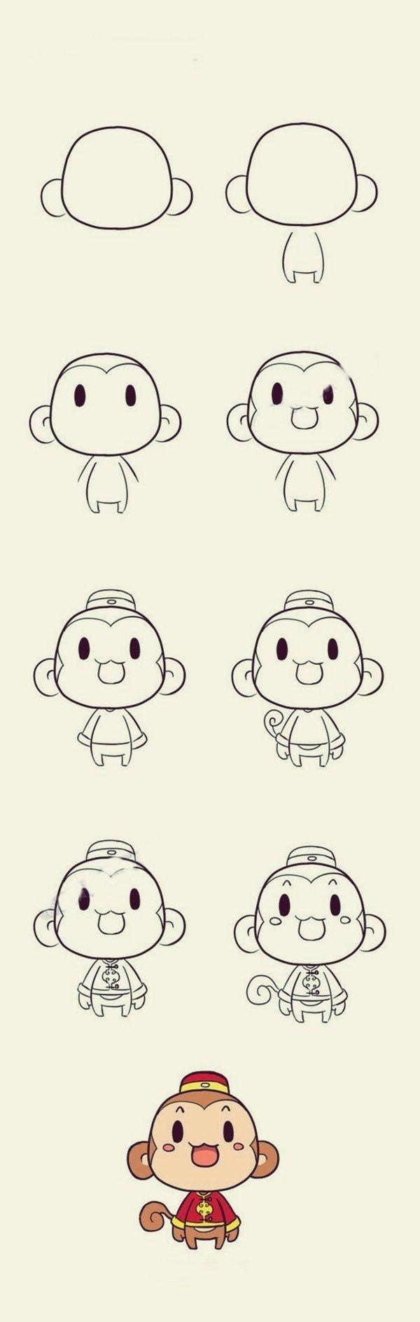 How To Draw Cute Animals 40 Examples Desenhos Para Desenhar