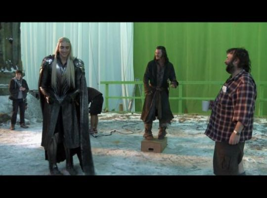 Lee pace the hobbit behind the scenes.
