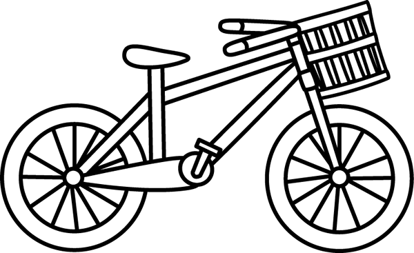 black and white bicycle with a basket bike pinterest bicycling rh pinterest ca bike clipart black and white bike clipart older woman