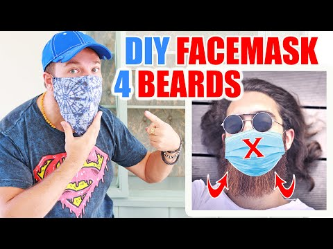 Photo of DIY FACE MASK for BEARDS + Filter Pouch | Free Pattern