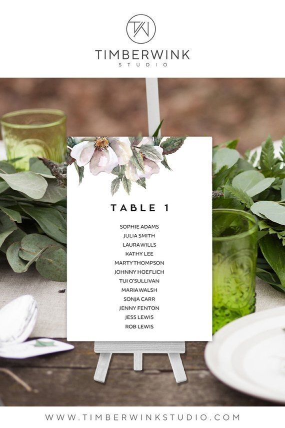 Wedding Seating Chart, Reception Stationery, Rustic ...