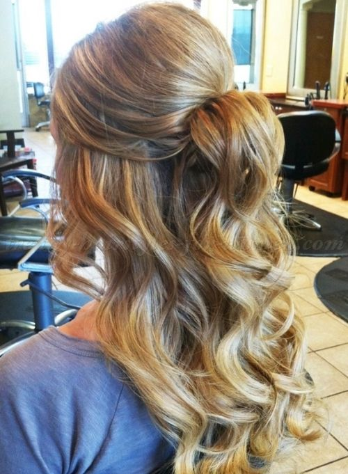 half up half down hairstyle for prom | Styles I Like ...