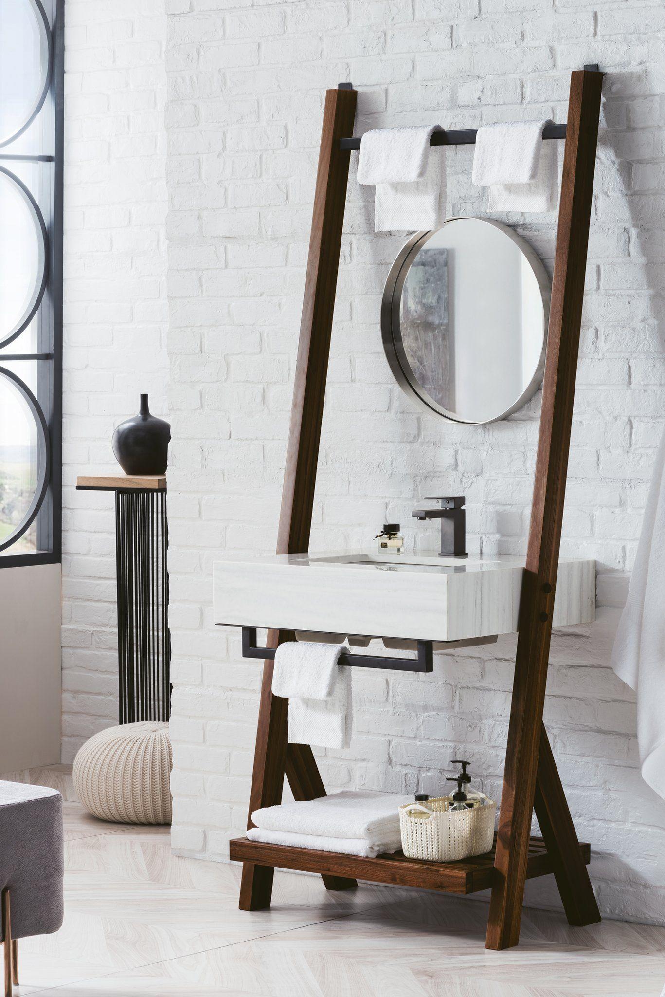 Best Lakeside 30 Single Bathroom Vanity Mid Century Walnut 400 x 300
