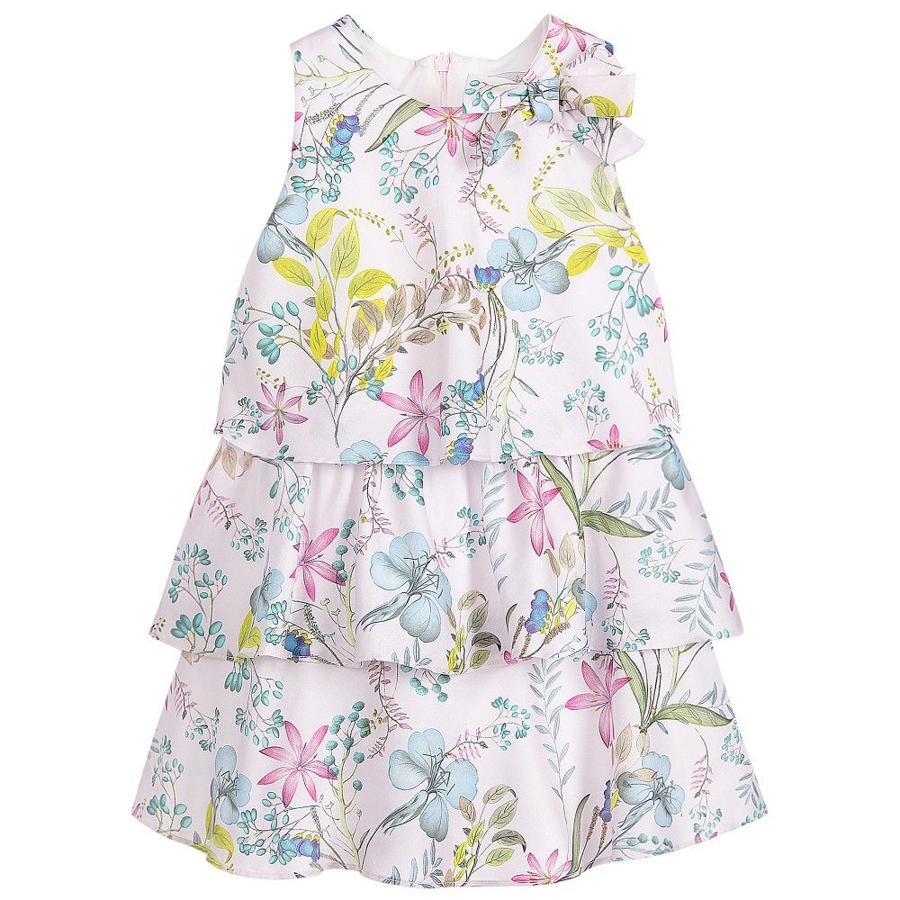 37714bf6325 Patachou - Girls Pink Cotton Floral Dress