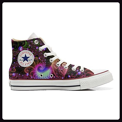 Converse All Star Hi Customized personalisierte Schuhe (Handwerk Schuhe) Disco Fantasy