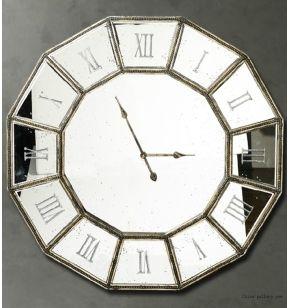 roman numerals large size decorative mirror wall clock - Mirrored Wall Clock