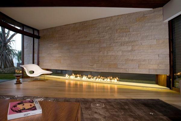 Natursteinwand im Wohnzimmer fliesen Wohnzimmer Pinterest - moderne fliesen wohnzimmer