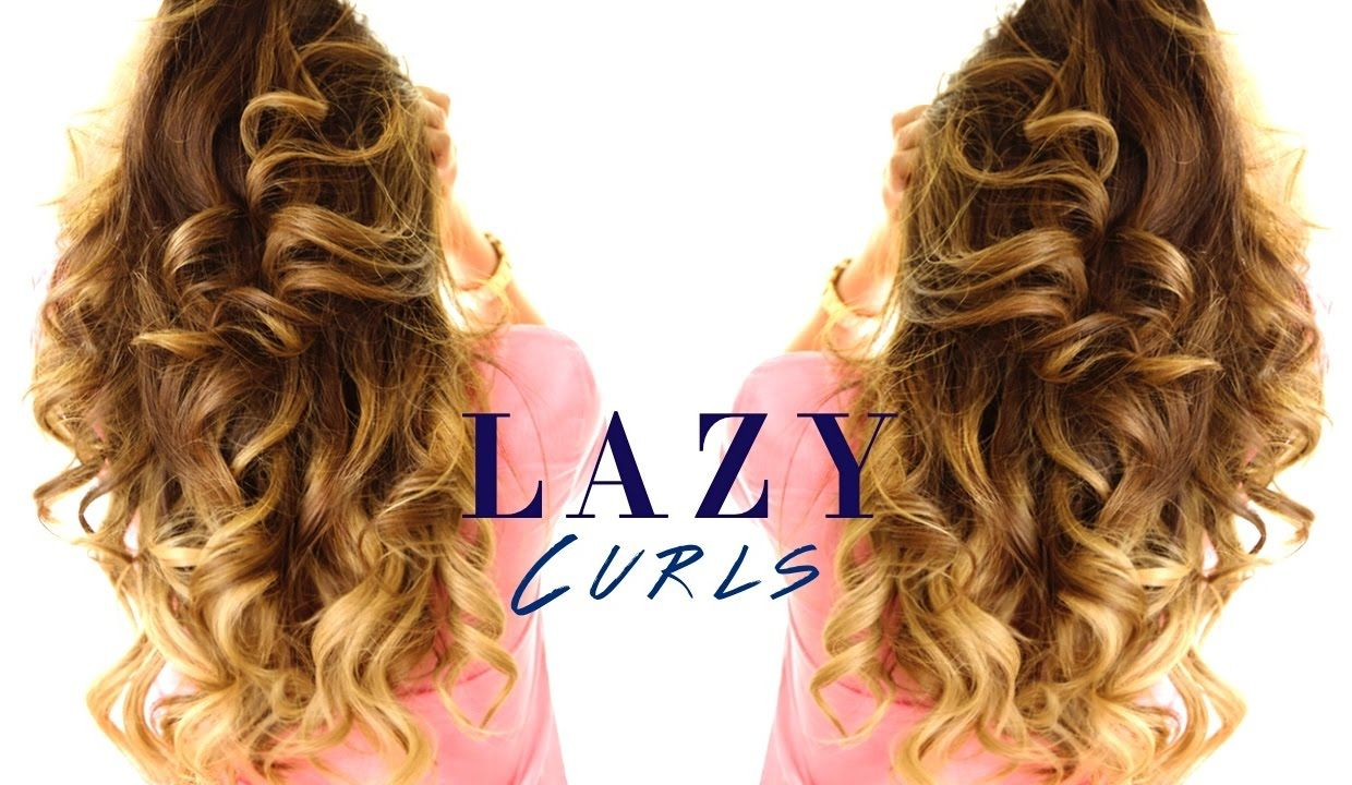 Minute lazy curls with a curling iron easy waves hairstyles