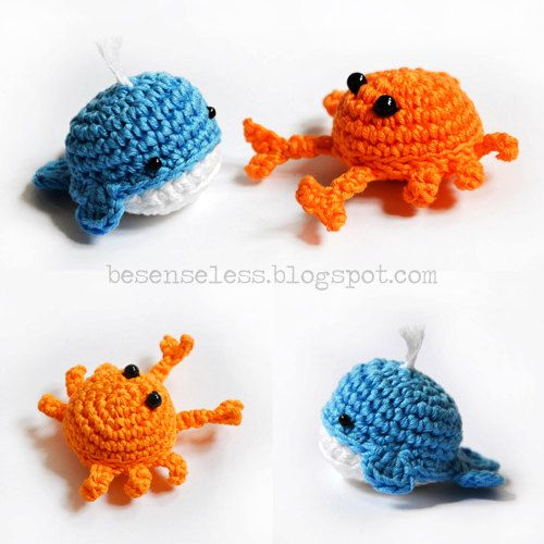 Crab and whale - amigurumi pattern. €4.00, via Etsy. | Haken ...