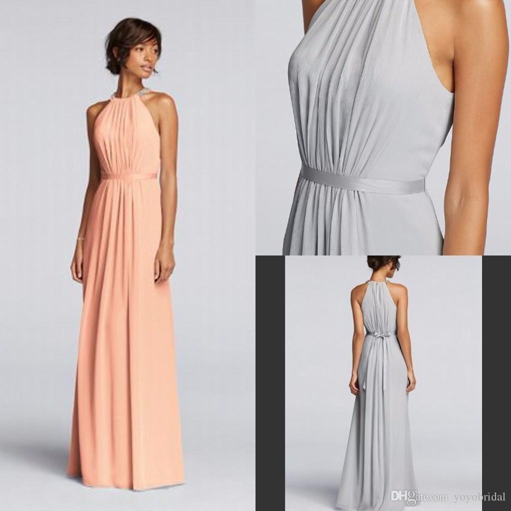 Cheap Bridesmaid Dresses Long Chiffon Bridesmaid Dress Floor Length ...