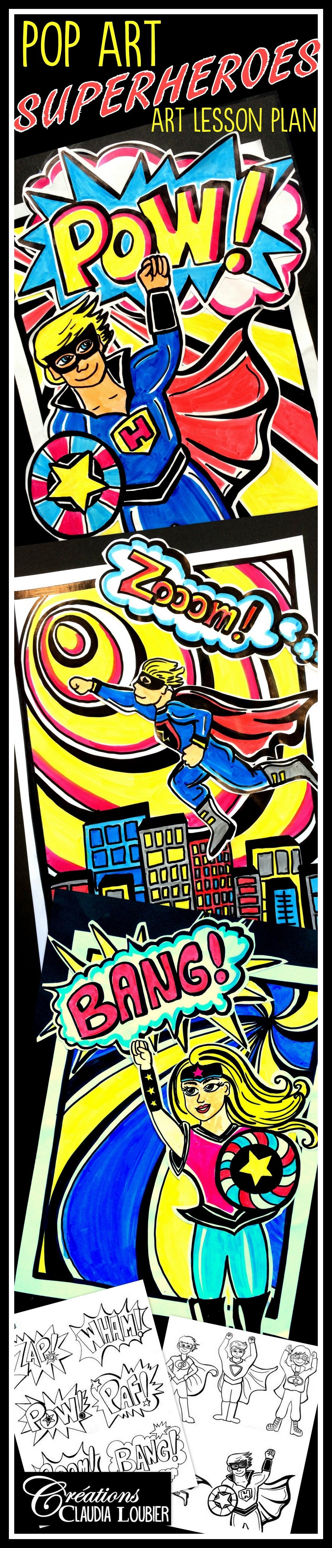 art project superheroes pop art is part of Superhero art projects - Art Project Superheroes ! Pop Art Popart Ideas