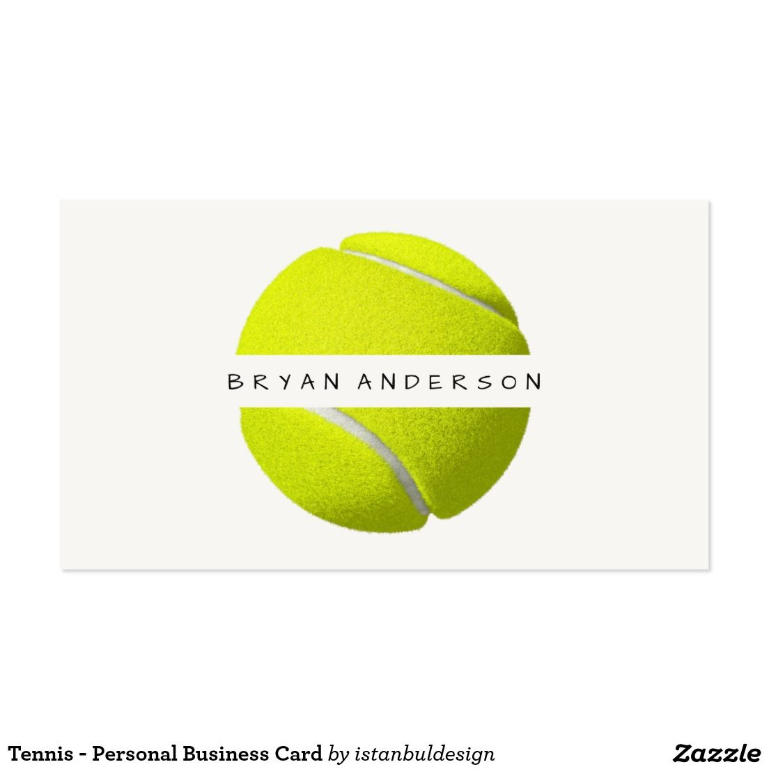 Tennis - Personal Business Card | Personal Professional Business ...