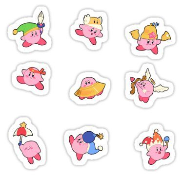 Kirby Stickers Sticker | Products in 2019 | Stickers