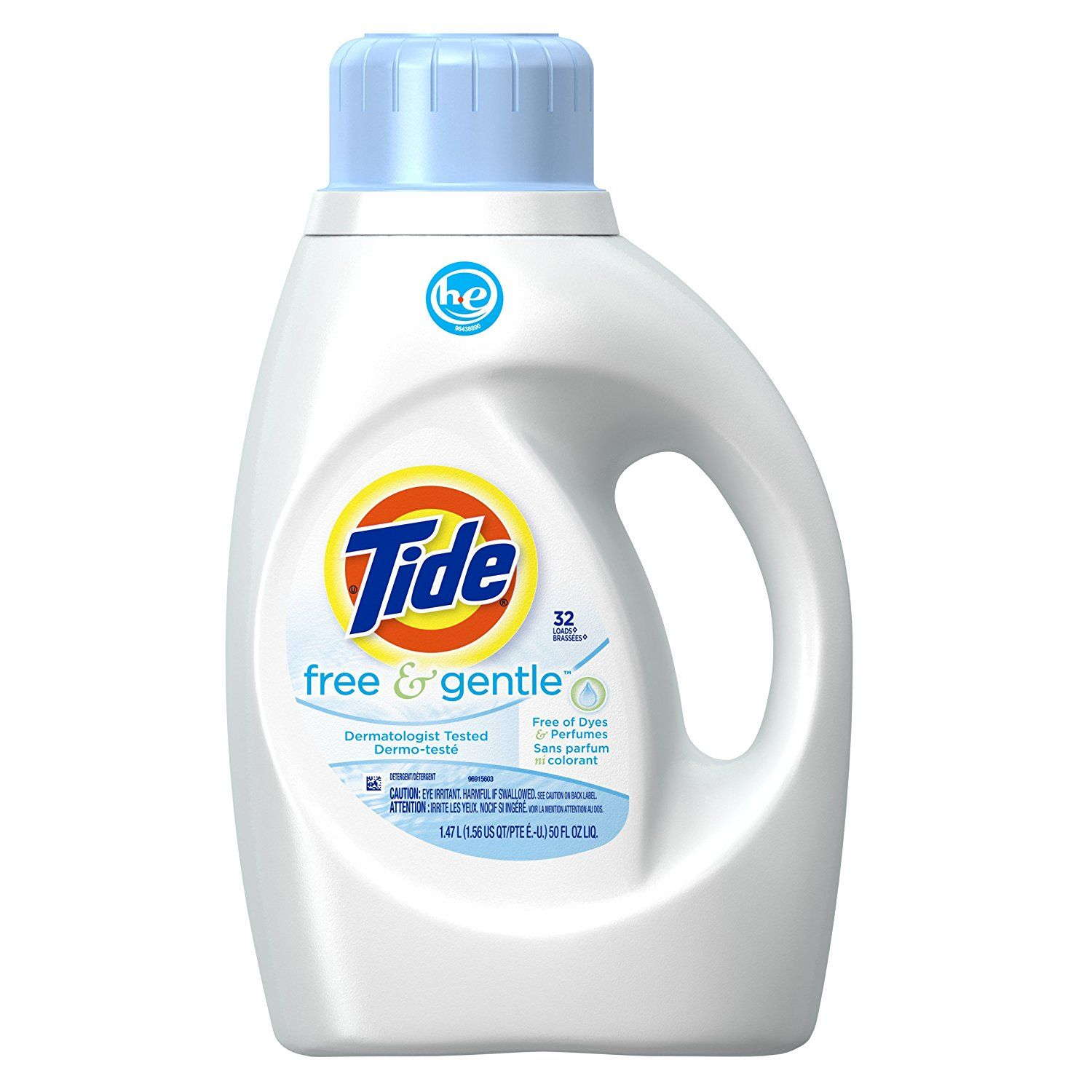 Tide Free And Gentle High Efficiency Liquid Laundry Detergent 50