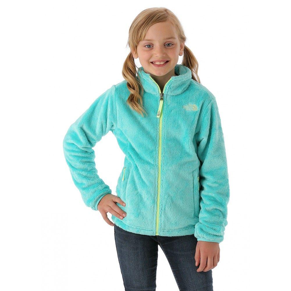 The north face girls osolita jacket mint blue