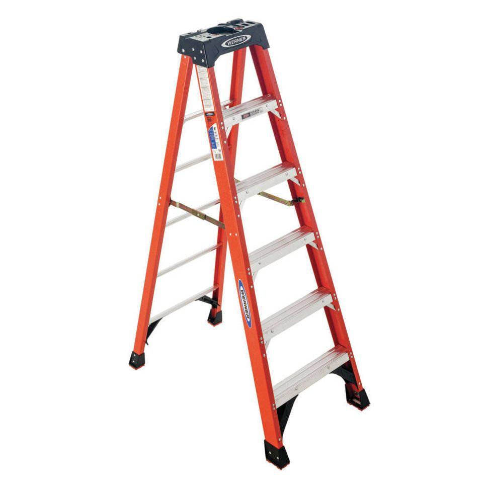 Werner Nxt 12 Ft Fiberglass Type 1a 300 Lbs Capacity Step Ladder At Lowes Com Step Ladders Best Ladder Wood Post