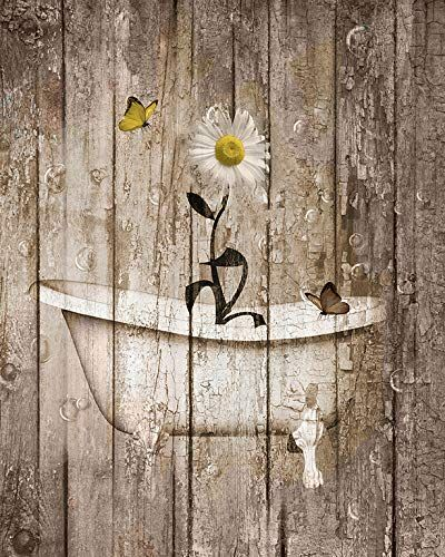 brown yellow rustic modern farmhouse country bathroom wall on bathroom wall decor id=53263