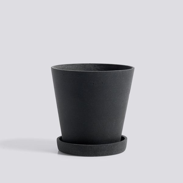 The HAY Flowerpot is a minimalist flowerpot with a saucer made of black polystone, a modern cross between stone and plastic. Small: 11cm diameter, 10.5cm height Medium: 14cm diameter, 13.5cm height Large: 17.6cm diameter, 16.5cm height Extra Large: 21.3cm diameter, 20cm height. PLEASE NOTE: These pots are only available in store. Due to the way …