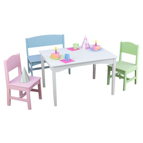 Terrific Nantucket Kids 4 Piece Writing Table And Chair Set Short Links Chair Design For Home Short Linksinfo